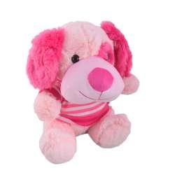 собака блідо-рожева в кофтині, 25 см