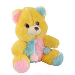 ведмедик жовтий з рожево блакитною обробкою, 35см