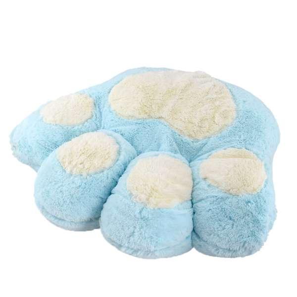 подушка лапа голубая маленькая 30х35