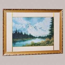 картина гобелен гори ліс озеро