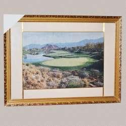 картина гобелен гори озеро