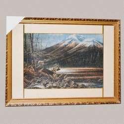 картина гобелен гори олені