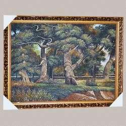 картина гобелен рама з квітами 57х77