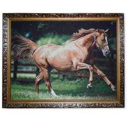 Картина гобеленова 60х80 88 * 68 кінь