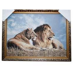 Картина гобеленова 60х80 88 * 68 лев та левиця