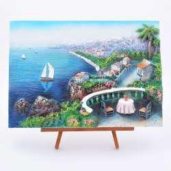 Картина настольная объемная на мольберте 24 х 33 см Морской пейзаж