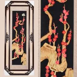 Картина из соломки в ажурной раме 47х117 см Сакура