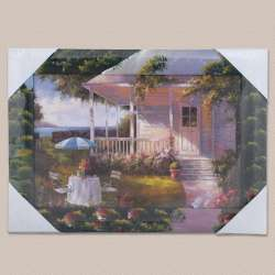 Картина Дом с верандой у моря, 34 х 47см