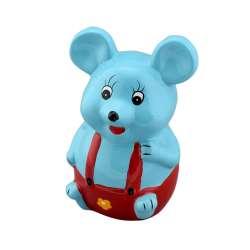 Скарбничка керамічна мишка 15х9х8 см блакитна