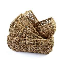 Набор корзин плетеные 4 шт. 21х15х10 см, 26х20х11см, 30х24х12,5 см, 34х28х13,5 см