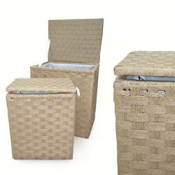 Набор корзин плетеные для белья 2 шт. 45х35х53 см, 35х27х44 см