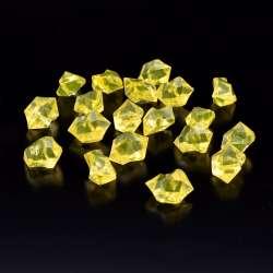 Кристаллы акрил 1,5x1,5x2,5 см желтые 1шт