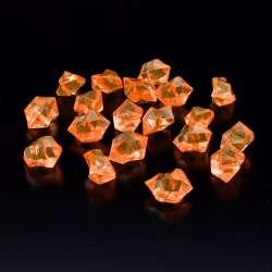 Кристаллы акрил 1,5x1,5x2,5 см оранжевые темные упаковка 180 шт