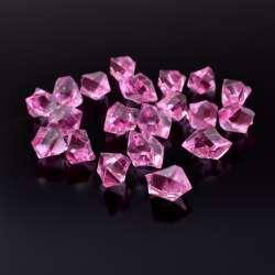 Кристаллы акрил 1,5x1,5x2,5 см розовые уп 180 шт