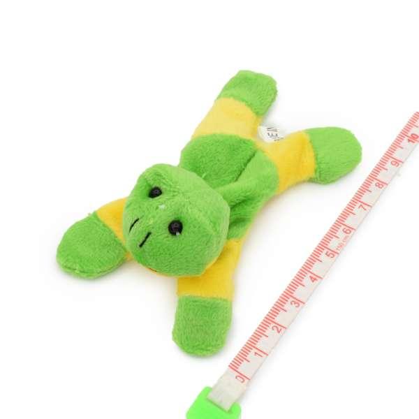 Магнит декоративный мягкая игрушка 9х5х3 см лягушка зелено-желтая