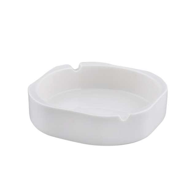 Пепельница керамическая 12,5x12,5x3,5 см белая
