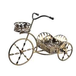 Подставка для цветов декоративная металлическая велосипед 3 колеса