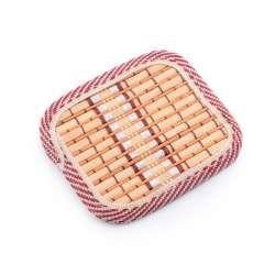 Підставка під чашки помаранчева бамбукова соломка квадратна 10х10 см