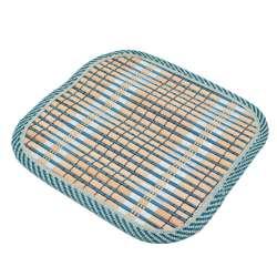 Підставка під гаряче бамбукова соломка квадратна 17х17 см бежево-синя