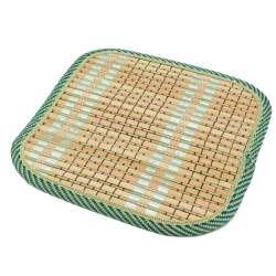 Подставка под горячее бамбуковая соломка квадратная 17х17 см бежево-салатовая