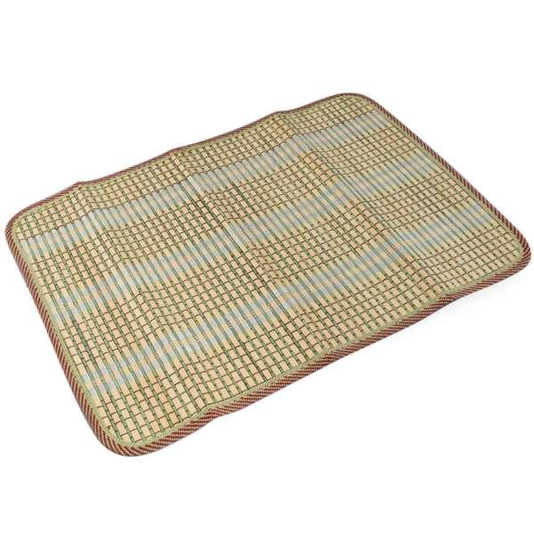 Сервировочный коврик бамбуковая соломка 30х45 см бежево-салатовый