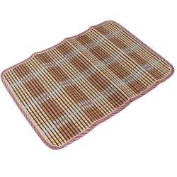 Сервировочный коврик бамбуковая соломка 30х45 см бежево-коричнево-черный