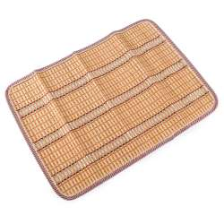 Сервировочный коврик бамбуковая соломка 30х45 см бежево-оранжевый