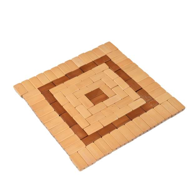 подставка под горячее квадр.20*20 св-беж с коричневым
