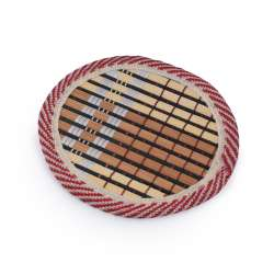 Підставка під чашки бамбукова соломка кругла коричнева 10 см