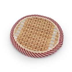 Підставка під чашки бамбукова соломка кругла бежева 10 см