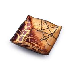 салатник скляний квадратний 14х14