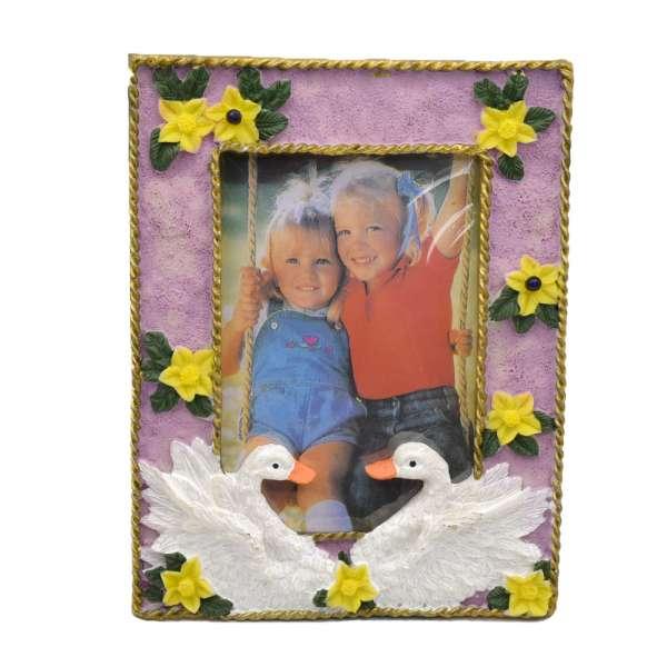 Рамка для фото лебеди 17х13х1,5 см для фото 9х13 см