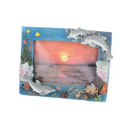 Рамка для фото лепка море