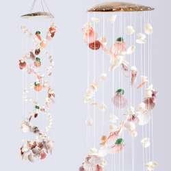 Музыка ветра подвеска из натуральных ракушек 100 см