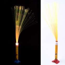 Ночник светильник на батарейках Фейерверк 40 см желтый с собачкой