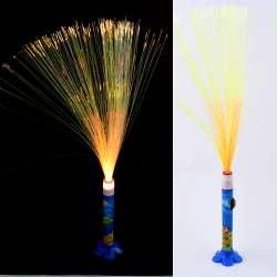 Ночник светильник на батарейках Фейерверк 40 см синий с рыбками