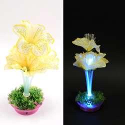 Ночник светильник на батарейках 25 см Лилия лимонная