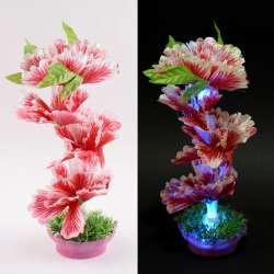 Ночник светильник на батарейках 25 см Цветок красный