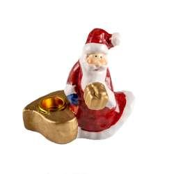 Фігурка свічник Дід мороз 9 см з сердечком