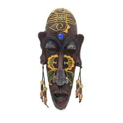 Настенная маска туземец полистоун 20х9х3,5 см желтый рисунок под дерево