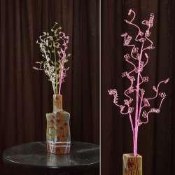 цветы иск. Веточка с мелк. цветами и накруч. спиралью 80см