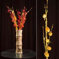 цветы иск. Веточка роз с блестками и стекл.лист, 80см