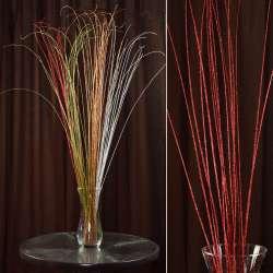 гілка декоративна з червоними блискітками (1 упаковка)