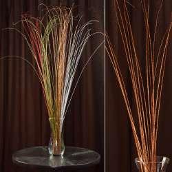 гілка декоративна з помаранчевими блискітками (1упаковка)