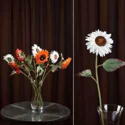 хризантема белая искусственная, 57см