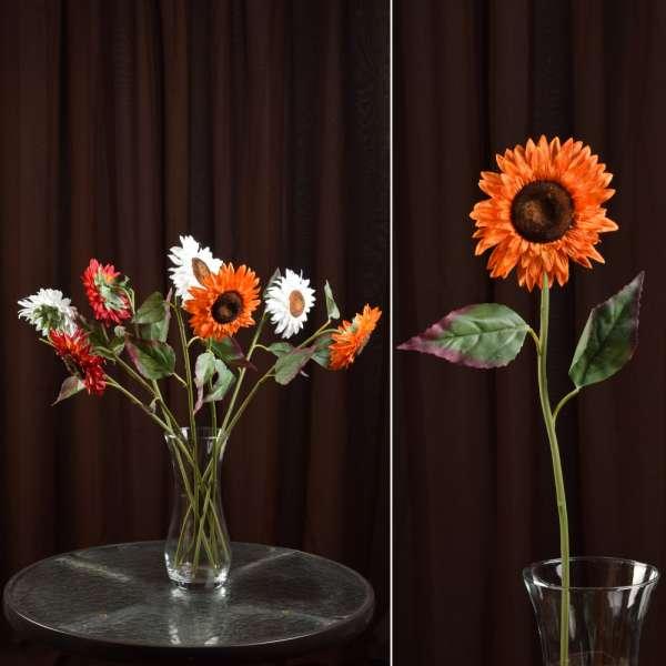 хризантема оранжевая искусственная, 57см