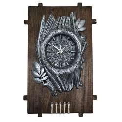 Годинник настінний на дерев'яній основі 36x21см Дерево