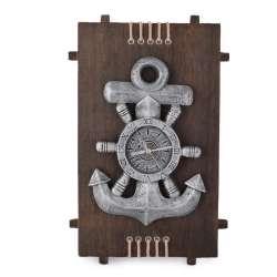 Часы настенные на деревянной основе 36x21см Якорь