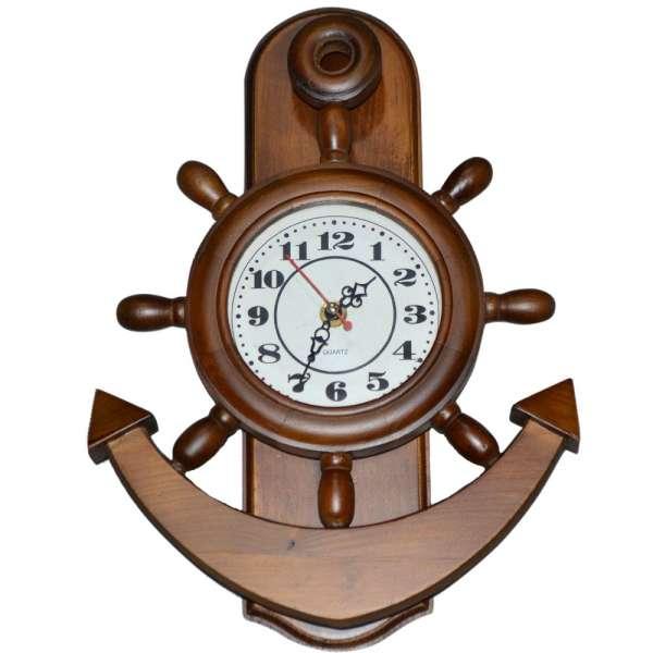 "годинник настен. деревян ""Якір"", 34см"