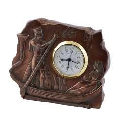 часы настольные Египтяне в лодке латунные, 10см